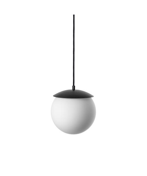 KUUL G sufitowa lampa wisząca, klosz biała kula, czarny stelaż UMMO
