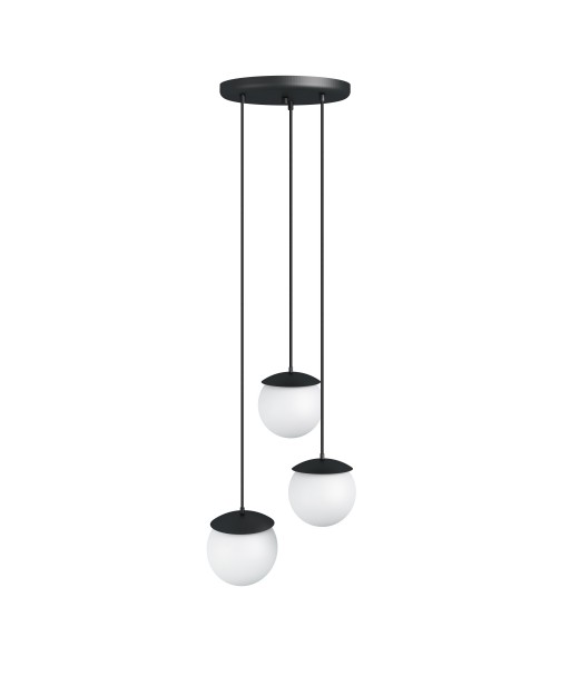 KUUL F triple black ceiling lamp