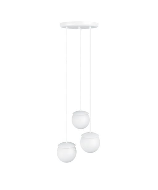 KUUL F potrójna biała sufitowa lampa wisząca
