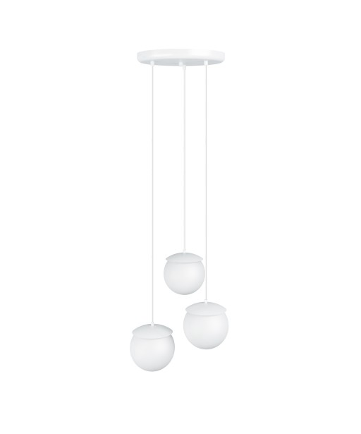 Triple ceiling white hanging lamp KUUL F three white glass balls 15cm UMMO