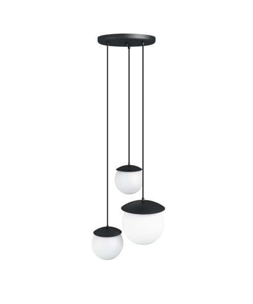 KUUL M triple black ceiling lamp