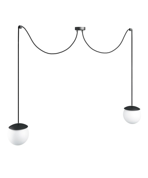 KUUL F double black ceiling lamp with adjustable length