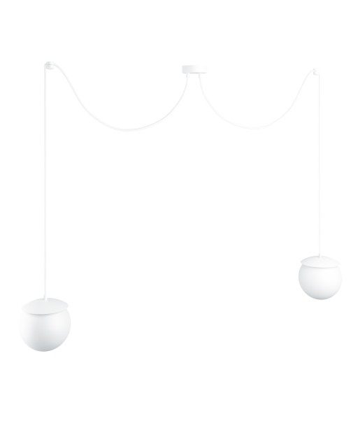KUUL F double white ceiling lamp with adjustable length
