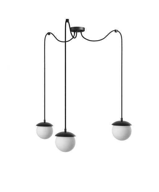 KUUL F triple black ceiling lamp with adjustable length