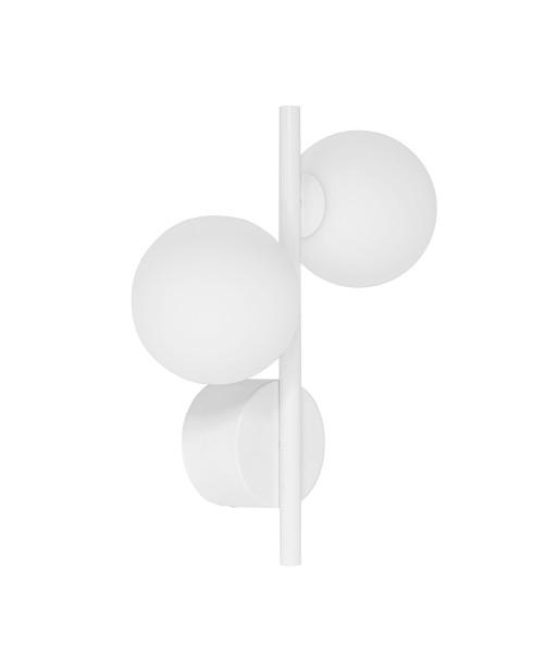DIPLO A biała lampa ścienna / kinkiet
