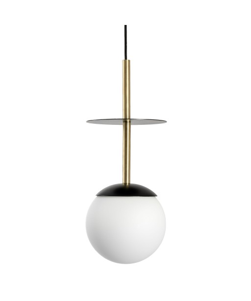 PLAAT A BRASS black ceiling pendant lamp with brass