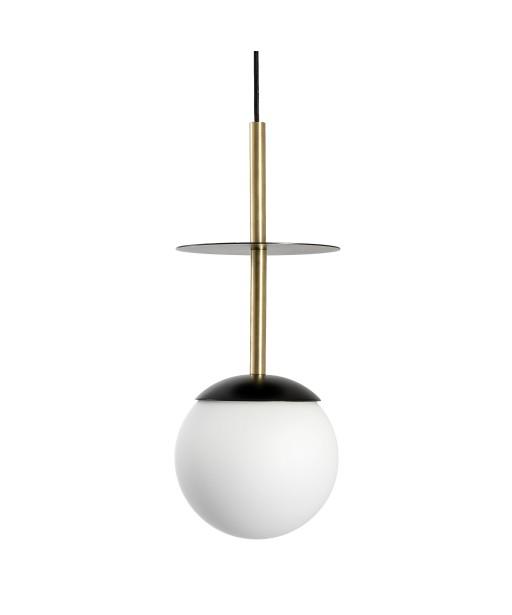PLAAT A BRASS czarna sufitowa lampa wisząca z mosiądzem