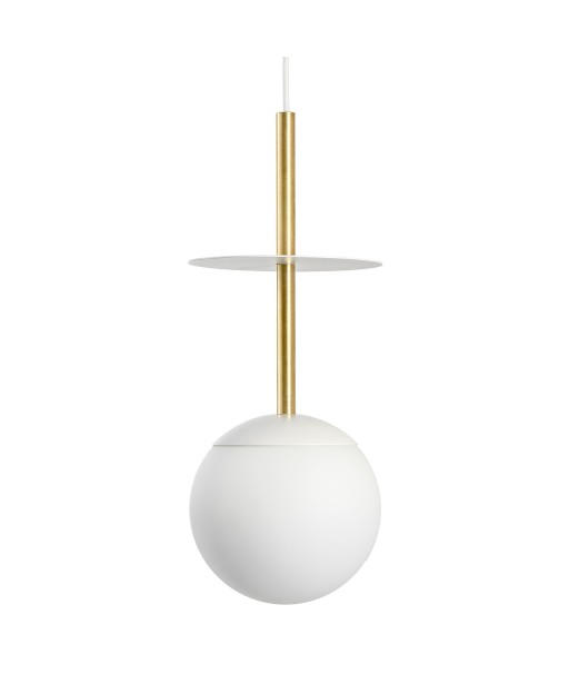 PLAAT A BRASS white ceiling pendant lamp with brass