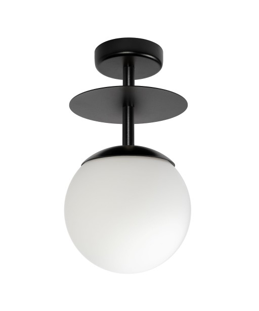 PLAAT B black ceiling lamp / plafond