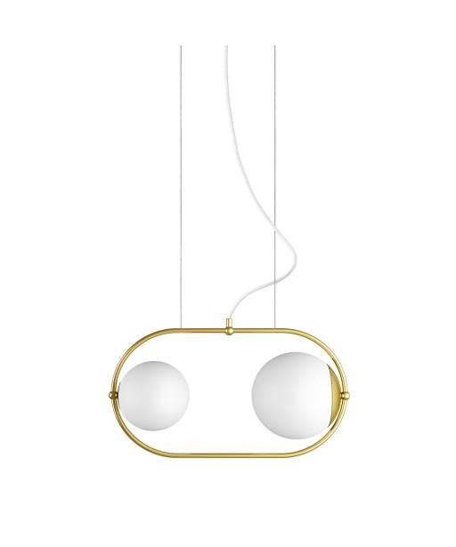 KOBAN A złota mosiężna sufitowa lampa wisząca