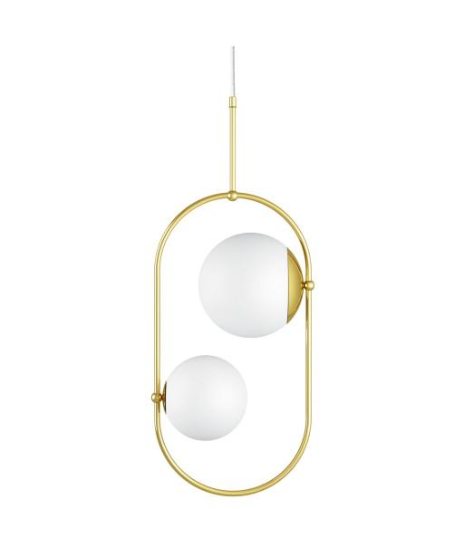 KOBAN C złota mosiężna sufitowa lampa wisząca