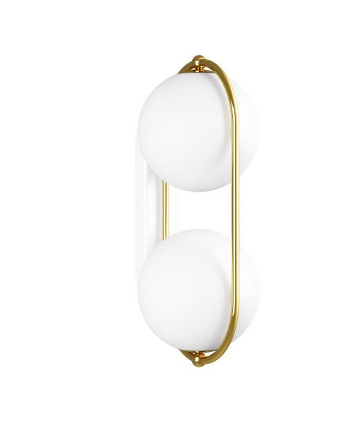 KOBAN E golden brass wall lamp / sconce