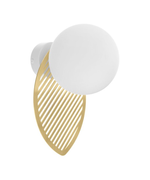 FYLLO B golden wall lamp / sconce with brass leaf