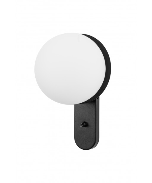 KUUL D1 black wall lamp / sconce with switch